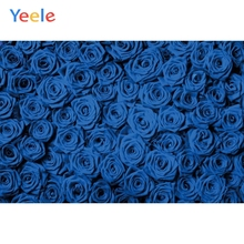 Yeele Blossom Blue Rose Flowers Wallpapers Party Bedroom Decor Photography Backdrops Photographic Backgrounds For Photos Studio