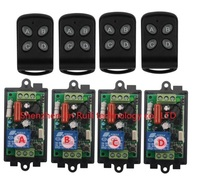 AC220V 110V 1CH RF Wireless Remote Control Switch System 220V Relays Receiver 4 Remote Control