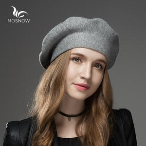 MOSNOW Winter Berets Wool Women's Knitted Hats For Cap