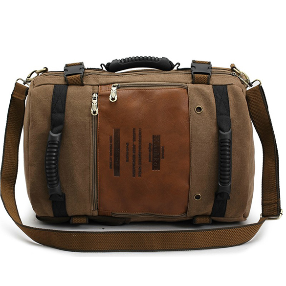 Fashion KAUKKO 2017 Canvas Leather Crossbody Bag Men Military Army Vintage Messenger Bags Shoulder Bag Casual Travel Bags Hot!!!