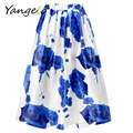 Rose Skirts Women's Skirt Trendy Skirts Outfits Floral Print Glam Rose Print A-line Vintage Free Shipping