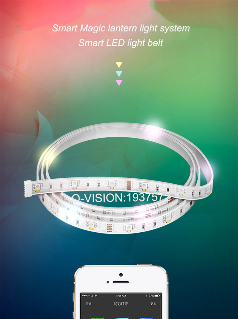 4-Lifesmart New LED Light Strip Wireless Remote Control by Phone16 Million Colors RGB Dimmable Smart Home Automation Customerized