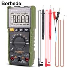 Borbede 168B Цифровой мультиметр 6000 граф DC AC Напряжение Ток Емкость Сопротивление температура НТС True RMS мини тестер
