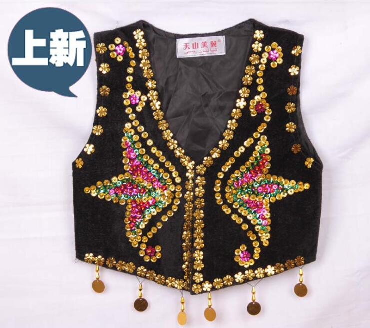 children embroidered dance costume girl vest uygur children s national performance costumes