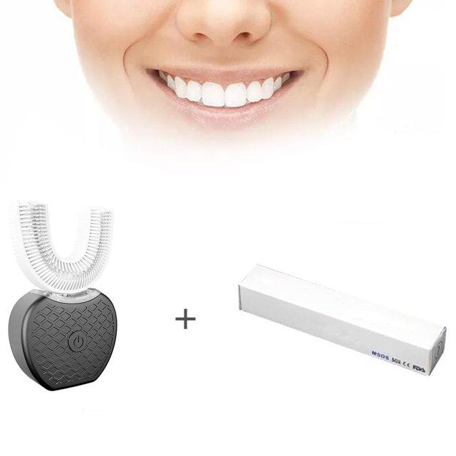 Eléctrico recargable cepillo de dientes para adultos V-WHITE versión mejorada de blanqueamiento de dientes cepillo de dientes