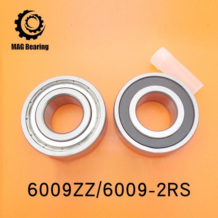 1pcs/lot Metal Shield 6009ZZ Steel ball bearing 45x75x16mm 6009Z Bearing 45mm diameter 6009 ABEC-3 Deep Groove Ball Bearing gcr15 6036 180x280x46mm high precision deep groove ball bearings abec 1 p0 1 pcs