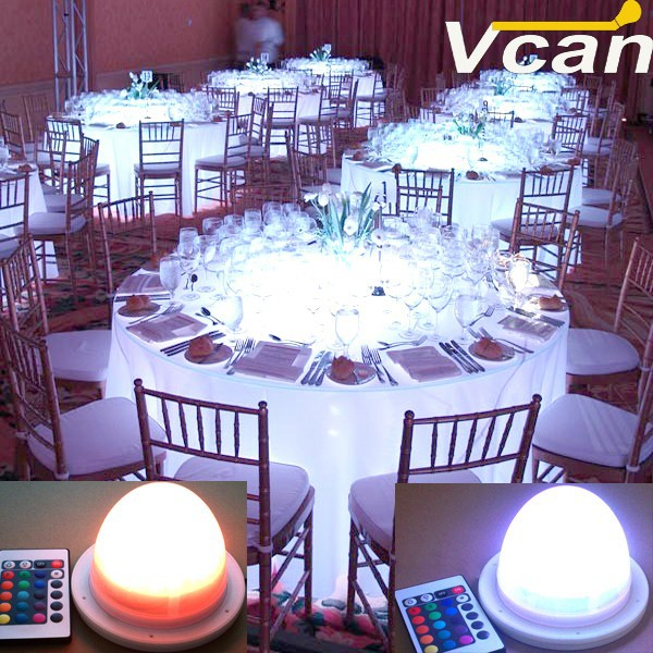 Super Bright colours change waterproof light for under table wedding event party
