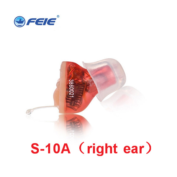 Invisible Hearing Aid Digital CIC Hearing Amplifiers S-10A Ear Care Noise Reduction Sound Amplifier Left Right Ear Deafness Aids