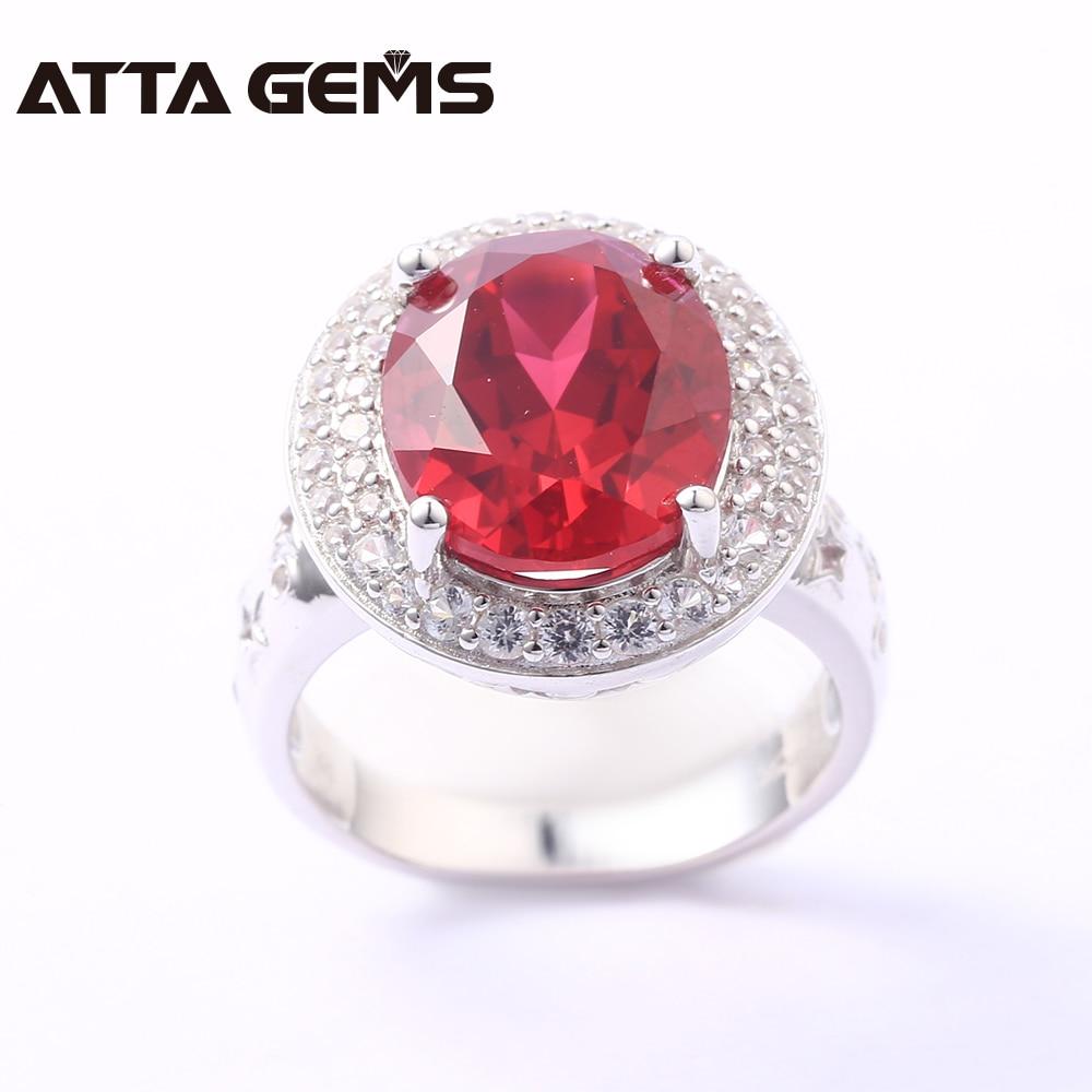 Bagues en argent Sterling rubis pour femmes 8 Carats créé rubis bijoux en argent massif Style classique pour les femmes de fiançailles de mariage - 3