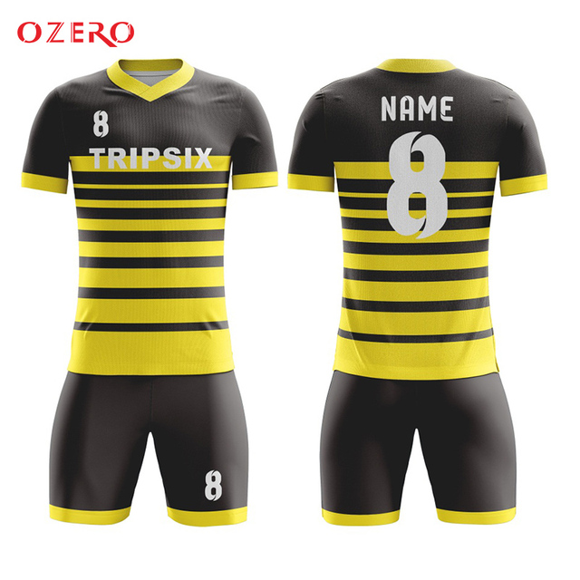 e9fb42185 Aliexpress.com   Buy custom yellow soccer jersey