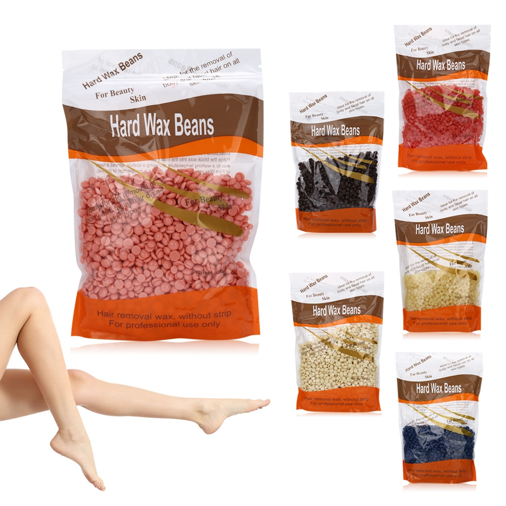 100g/300g Chamomile Depilatory Pearl Hard Wax Beans Brazilian Granules Hot Film Wax Bead For Hair Removal Waxing Bikini