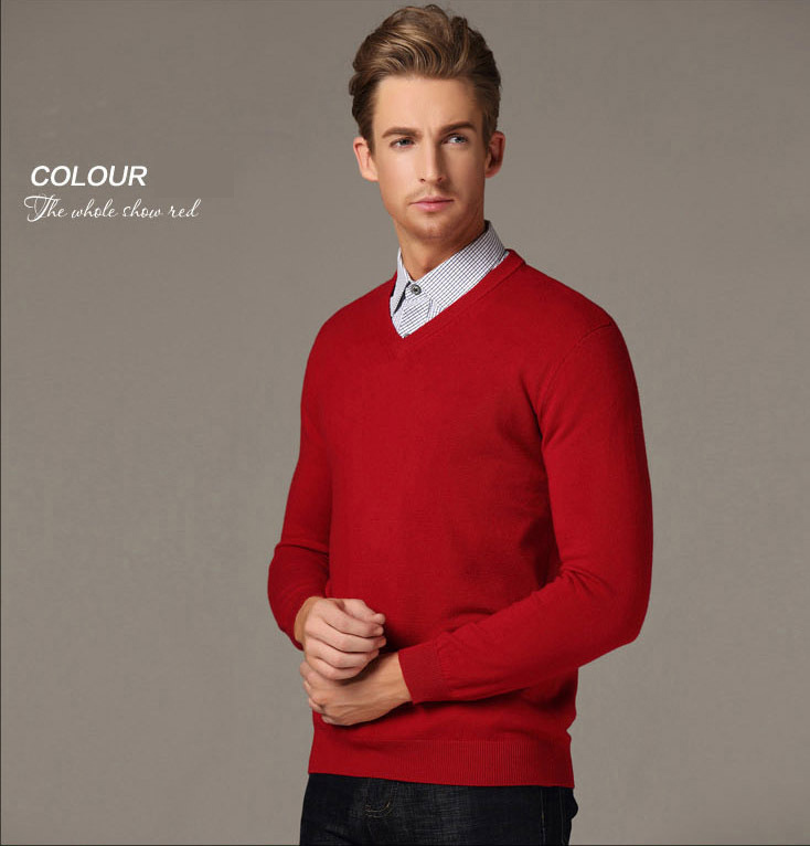 c15bbbc8c20539 Men Pullover Large Size 2XL V Neck Brand Business Mens Jumper Sweater Slim  Fit Man Sweaters Long Sleeve Men's Pullovers-in Pullovers from Men's  Clothing on ...
