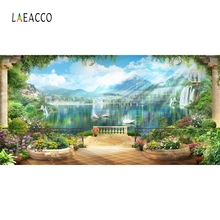 Laeacco Dreamy Scenic Mountains Baby Pet Portrait Photography Backgrounds Customized Photographic Backdrops For Photo Studio laeacco mountains snow spring cherry blossoms scenic photography backgrounds customized photographic backdrops for photo studio