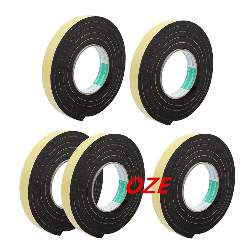 5Pcs 20mm Width Single Sided Self Adhesive Shockproof Sponge Foam Tape 2M Length 25mm x 1mm double sided self adhesive shockproof sponge foam tape 10m length