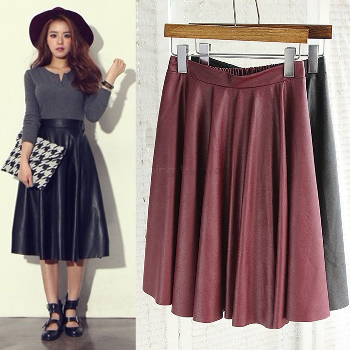 Casual Midi Skirt - Skirts