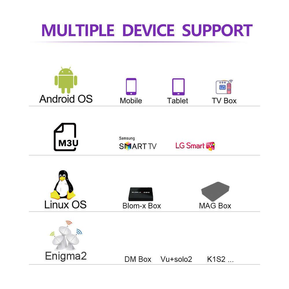 Full HD IPTV подписка Франция Португалия Испания код IPTV голландские, французские арабские IP tv для MAG Enigma2 Android Smart tv M3U