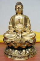 bi003170 CHINESE buddha statue bronze Amitabha