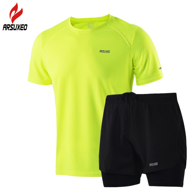 Men/'s T-shirt and Short Set Gym Sports Summer outfit S And XL And XXL