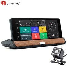 Junsun 3G 7 pulgadas Coche DVR GPS de Navegación para Android 5.0 Bluetooth wifi Automóvil con cámara de visión Trasera Navegantes de sat nav mapas Gratuitos