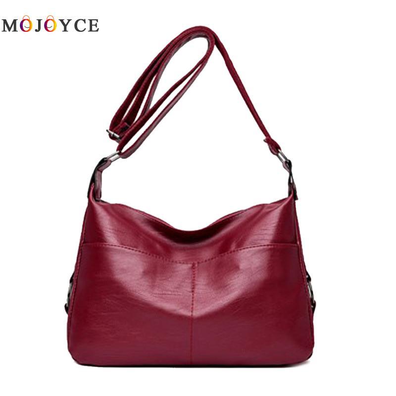 купить Luxury Brand Women Pure Large Capacity Handbags PU Leather Shoulder Bags Female bolsos mujer de marca famosa 2018 по цене 634.69 рублей