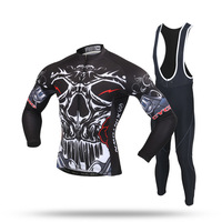 BOODUN Cycling Wear Long Straps Suit 2017 New Pattern Spring Long Sleeve Straps Suit Male The