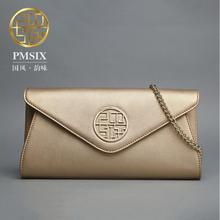 Famous brand top quality dermis women bag  Fashion Clutch Wallet Personalized fashion envelope package Chain single shoulder bag