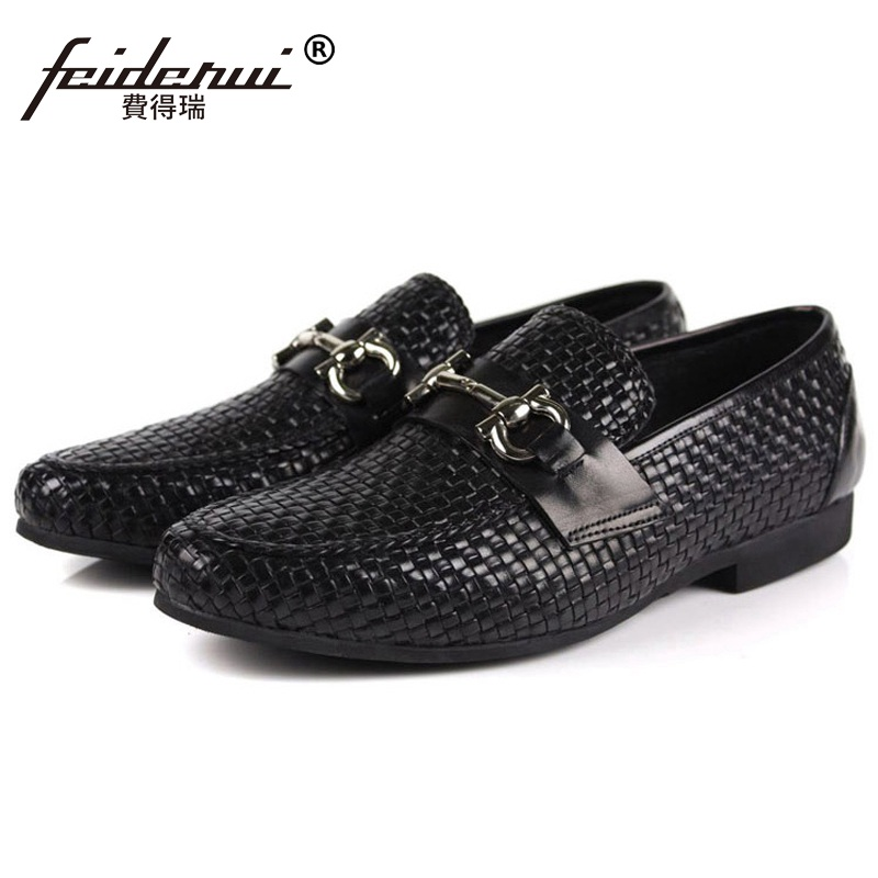 Hot Sale Man Formal Dress Shoes Genuine Leather Cow Loafers High Quality Round Toe Slip on Men's Handmade Breathable Flats AS58 hot high quality men loafers leather round toe slip on casual shoes man flats driving shoes hombre zapatos comfortable moccasins