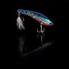 7pcs/combo 23g 7cm hard metal VIB fishlur metal vibration wobbler lure bait bass angling fishing tackle cheap metal fishing lure