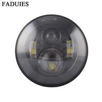 FADUIES Motorcycle Black 7 in. Daymaker Projector LED Headlamp Headlight For Harley FLS, FLSTC, FLSTF FLSTFB FLSTN Touring Trike