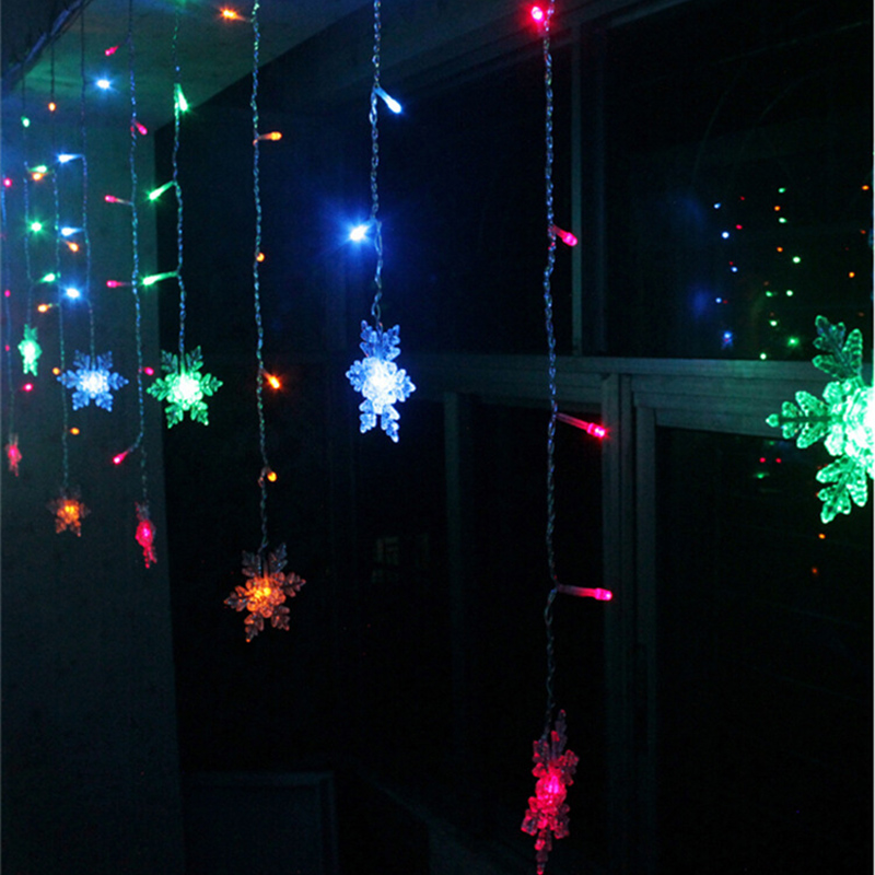 3.5M Romantic Fairy Star Led Curtain String Light mixed color light EU 220V Xmas Garland Light For Wedding Party Meaningsfull