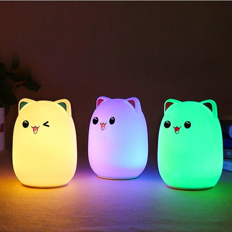 Fenglaiyi медведь Силиконовые СВЕТОДИОДНЫЙ ночник лампа Дети Спальня ночника Цвет Изменение светодиодный ночник для маленьких