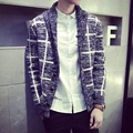 Fashion 2016 Autumn Brand Men's Stich Cardigan Sweaters Plaid Patchwork Design Knitted Sweater Men Colored Sweaters