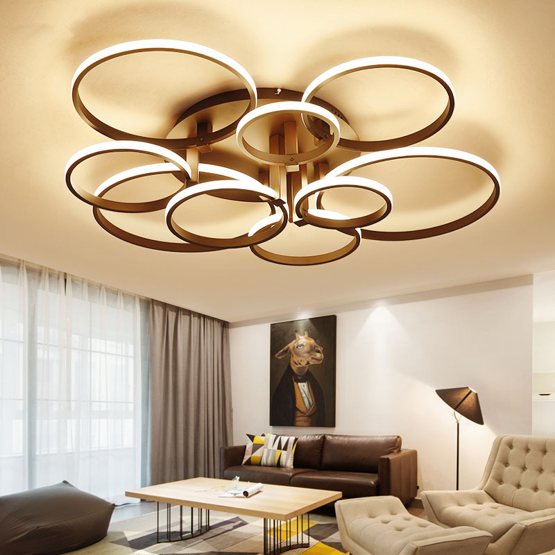 Surface mounted modern led ceiling lights for living room Bedroom White iluminacion Indoor LED Ceiling Lamp lamparas de techo