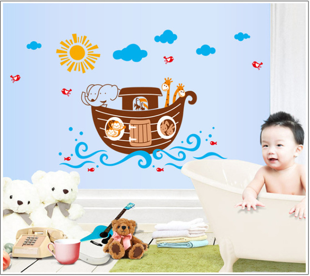 Removable Wall StickersCartoon Home Decoration Wall Decals Pirate - Wall decals noah's ark