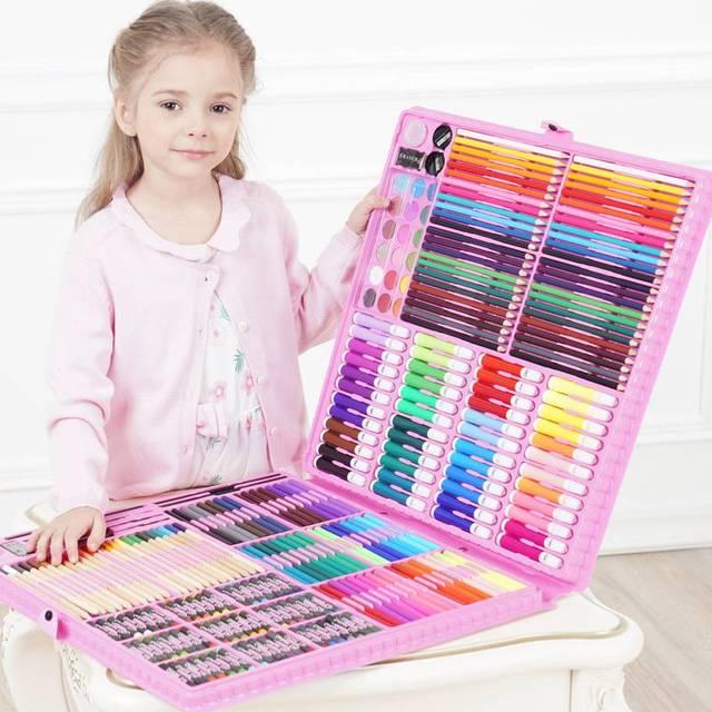 DINGYI 108/168/288 шт инструменты для рисования набор для художественной живописи акварельный маркер Кисть ручка для детей подарок художественные ...