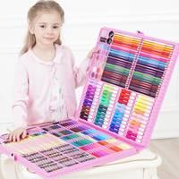 DINGYI 108/168/288 шт инструменты рисования набор для художественной живописи акварель маркер кисть для детей подарок товары для рукоделия школьны...