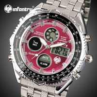 INFANTRY Mens Watches Top Brand Luxury Analog Digital Military Watch Men Sport Army Watches for Men Red Clock Relogio Masculino