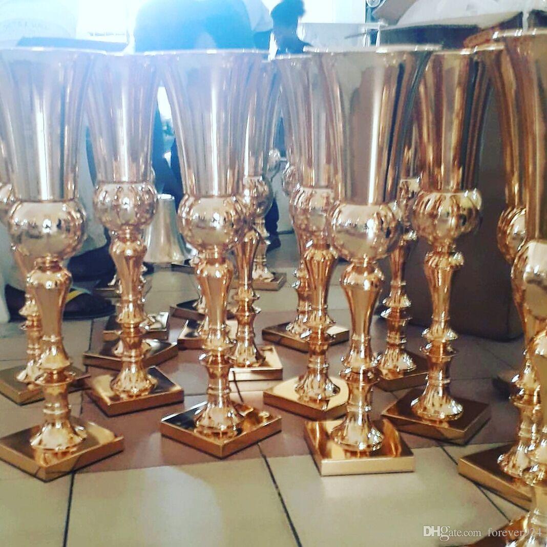 Gold Metal Flower Vase Silver Tall Vases Royal Gold