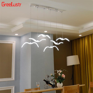 Image 2 - Novelty led Seagull Pendant Lamp for Kitchen Acrylic Led Chandeliers Hanging Light Creative Lestre Suspension Light Fixtures