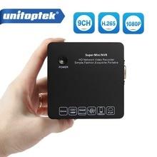 Unitoptek супер мини NVR 9Ch 1080 P 2MP CCTV IP Камера сети видео Регистраторы наблюдения 9 канала NVR ONVIF P2P приложение AEeye 2,0