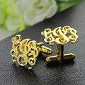 Wholesale Cut Out Monogrammed Cufflinks Gold Monogram Wedding Cufflinks Personalized Initials Men Cufflinks Name Men Jewelry