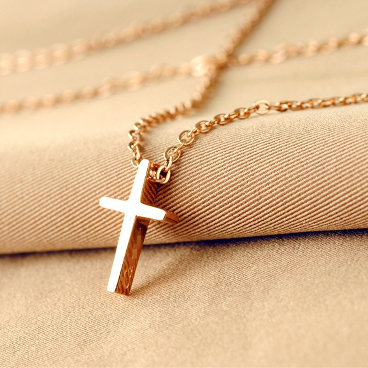 2014 new fashion jewelry jesus clavicular chain titanium steel 14k 2014 new fashion jewelry jesus clavicular chain titanium steel 14k rose gold cross necklace pendant man and women in pendants from jewelry accessories on aloadofball Image collections