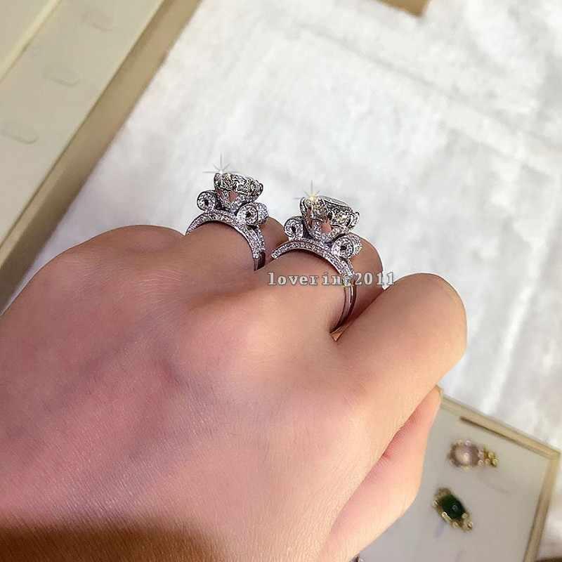 Роскошное Ювелирное кольцо с Эйфелевой башней для женщин и мужчин, 9 мм, AAAAA, циркон, Cz, 925 пробы, серебро, обручальное кольцо, кольца для женщин, подарок
