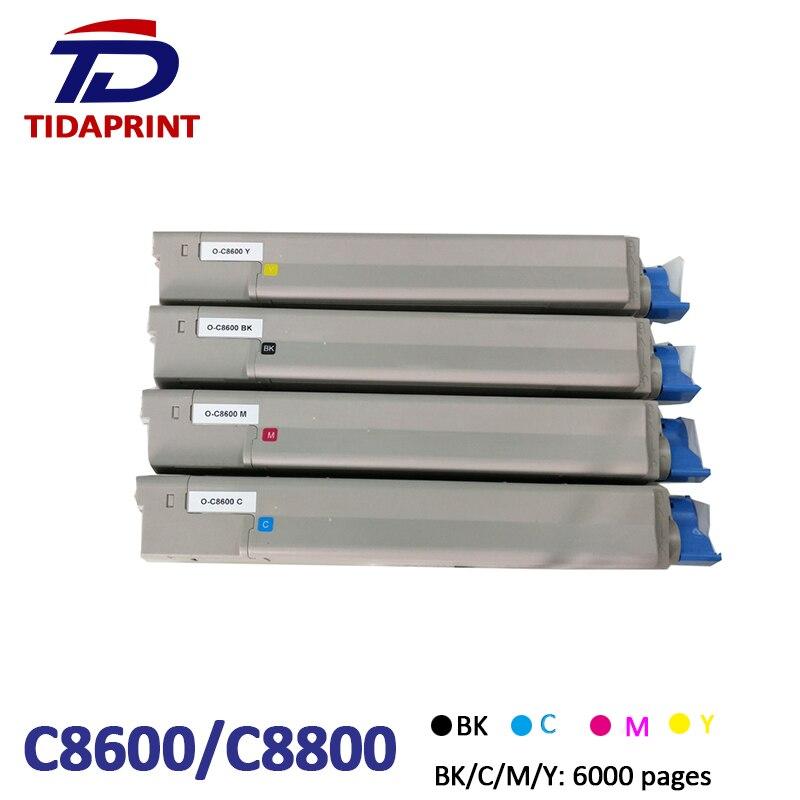 TIDAPRINT Remanufactured Toner Cartridge OKI C8600 for Okidata C8600/C8650/C8800 Printers 6000 pageTIDAPRINT Remanufactured Toner Cartridge OKI C8600 for Okidata C8600/C8650/C8800 Printers 6000 page