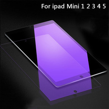 Tempered Glass For Apple iPad mini 1 2 3 4 5 7.9 inch 2.5D Full Cover Anti Blue Ray Screen Protector For iPad Mini 4 5 Film full cover matte frosted tempered glass for apple ipad 5 6 ipad 2017 2018 ipad air 1 2 mini 4 9 7 tablet screen protector film