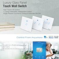 PreSale Sonoff T1 1 2 3 Gang UK WiFi Smart RF APP Touch Control Wall Light