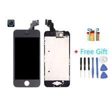 iPartsBuy 4 in 1 for iPhone 5C (Front Camera + LCD + LCD Frame + Touch Pad) Digitizer Assembly (Black)