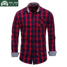 Brand Hot Sell 2018 Summer New Casual Dress Shirt Men Long Sleeve Fash