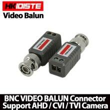 HKIXDISTE 10pcs CCTV Video Balun Passive Transceivers 2000ft Distance UTP Balun BNC Cable Cat5 CCTV UTP Video Balun