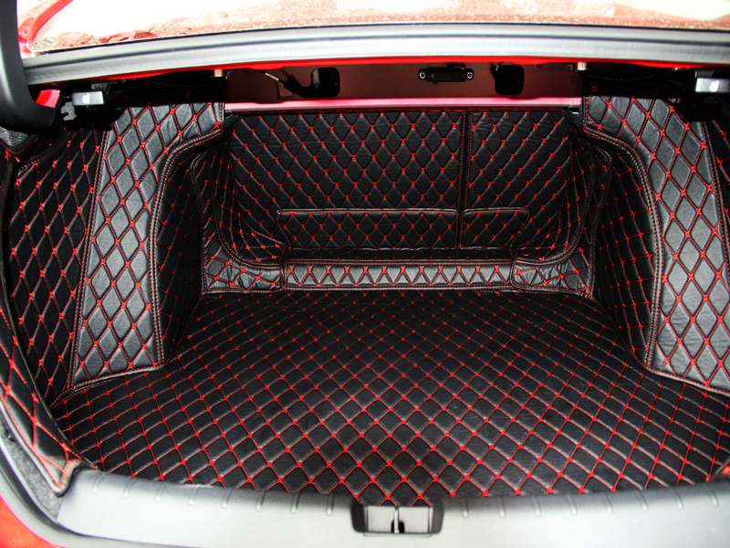 Best quality! Special trunk mats for Honda Civic 2018 2016 wear resisting cargo liner boot carpets for Civic 2017,Free shipping